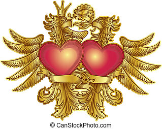 eagles with hearts
