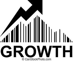EAN barcode mountain growth profit symbol