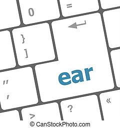 ear button on computer pc keyboard key