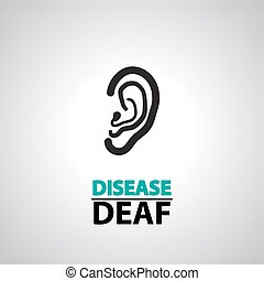 ear deaf icons and symbol