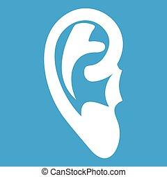 Ear icon white