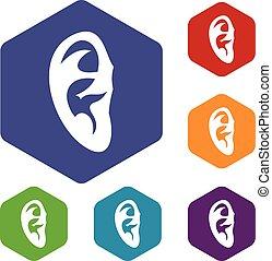 Ear icons set