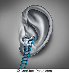 Ear Medicine - Ear medicine medical concept as a doctor or...
