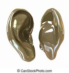 Ear model. 3d illustration