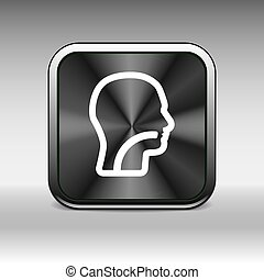 Ear, nose and throat symbol - vector illustration