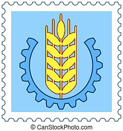 Ear of wheat stamp