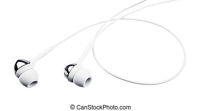 Ear-phones isolated on the white