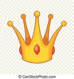 earl, icono, estilo, corona, caricatura