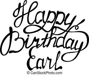 earl, letras, cumpleaños, nombre, feliz
