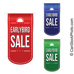 Early bird discount ribbons