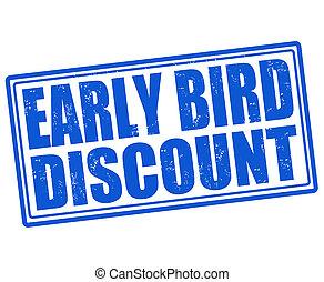 Early bird discount stamp - Early bird discount grunge...