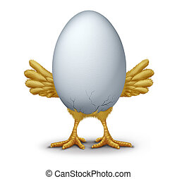 Early Bird - Early bird funny egg with humorous hatching...