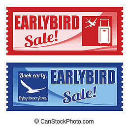 Early bird sale coupons