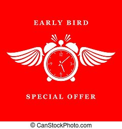 Early bird special offer icon