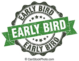 early bird stamp. sign. seal