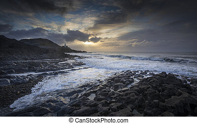 Early morning at Bracelet Bay