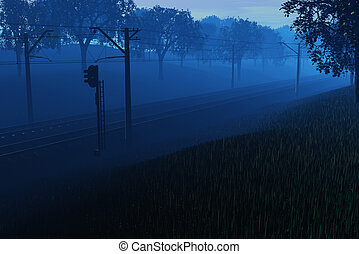 Early morning at the railroad