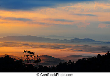 Early morning at Tuscany, Italy.