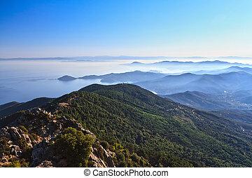 early morning in Elba island