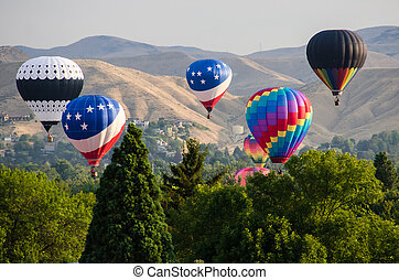 Early Morning Launch of Hot Air Balloons