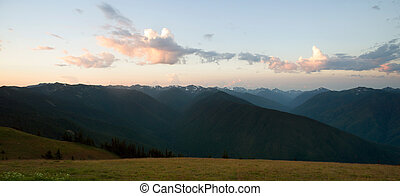 Early Morning Light Olympic Mountains Hurricane Ridge