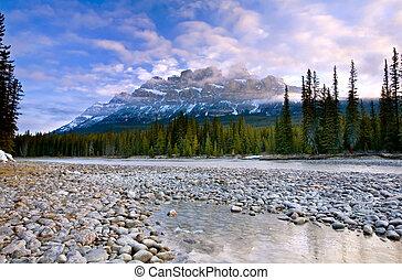 Castle Mountain in Banff National Park, Alberta, Canada