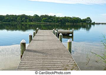 Early Morning on Bayou Texar in Pensacola, Florida - Fishing...
