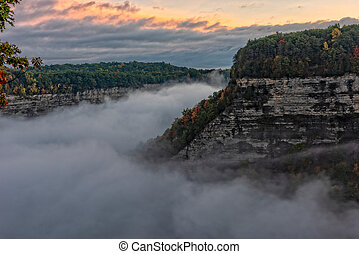 Early Morning Sunrise At Letchworth State Park