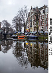 Early morning view of Amsterdam