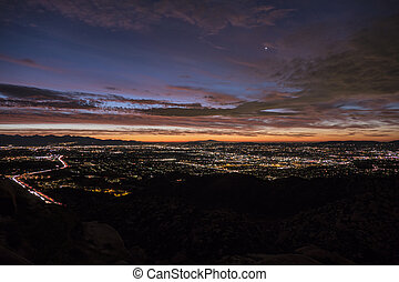 Early Morning View of the San Fernando Valley in Los Angeles
