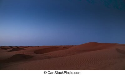 early morning with moon in the desert - early morning and...