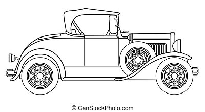 Early Motor Car Outline - One of the first production motor...