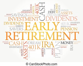 Early Retirement word cloud