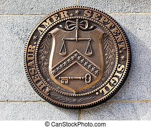 Early Seal Sign Symbol US Treasury Department Washington DC