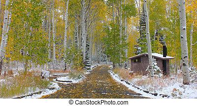 Early snowfall in Utah