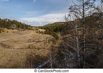 Kuznetsk Alatau - Early spring in the foothills of the ...