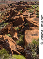 Red Rock Outcropping in Wupatki National Monument - Early ...