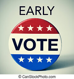 early vote in the United States election - closeup of a...