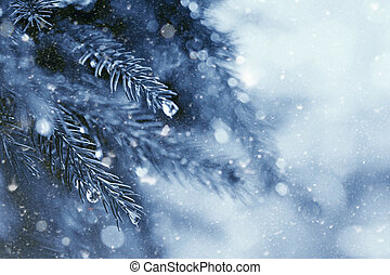 early winter in the forest, abstract natural backgrounds