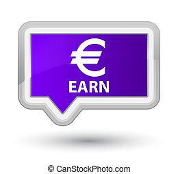 Earn (euro sign) prime purple banner button