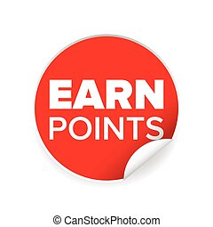 Earn points sign label tag vector