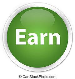 Earn premium soft green round button