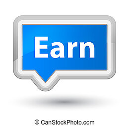 Earn prime cyan blue banner button