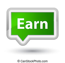 Earn prime green banner button