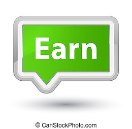 Earn prime soft green banner button