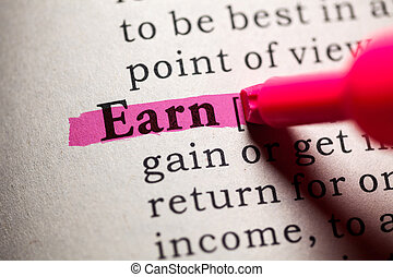 earn - Fake Dictionary, Dictionary definition of the word...