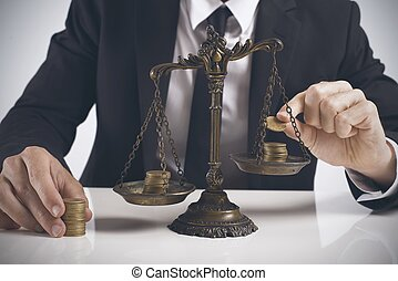 Concept of earning balance of a businessman