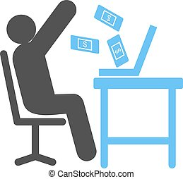 Earning - Earn, business, money icon vector image. Can also...
