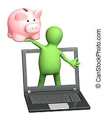 Earnings in the Internet - Conceptual image - earnings in...