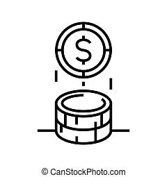 Earnings line icon, concept sign, outline vector illustration, linear symbol.